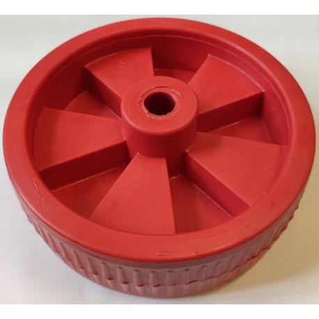 Koło 120mm Czerwone Plastikowe