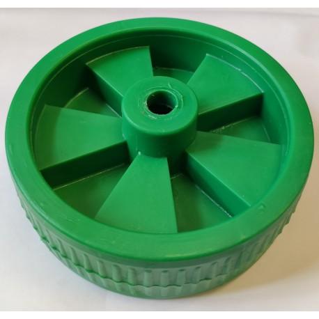 Koło 120mm Zielone Plastikowe