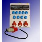 Rozdzielnica elektryczna naścienno-przenośna 3x32A 9x230V