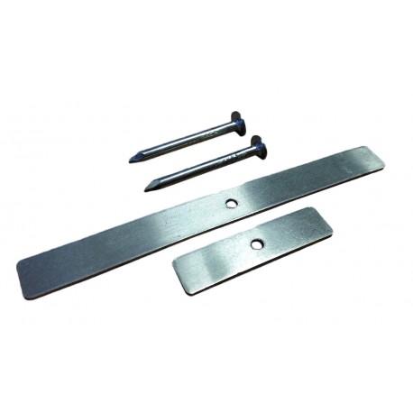 Uchwyt aluminiowy z gwoździem 100 sztuk