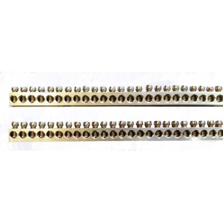 Listwa zerowa, uziemiająca, 1 metr, 163-169 rzędów, śr. 4mm