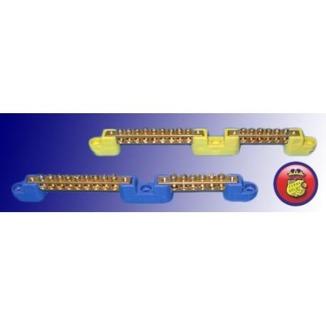 Listwa zerowo-uziemiająca 9+6 torów na izolatorach płaskich