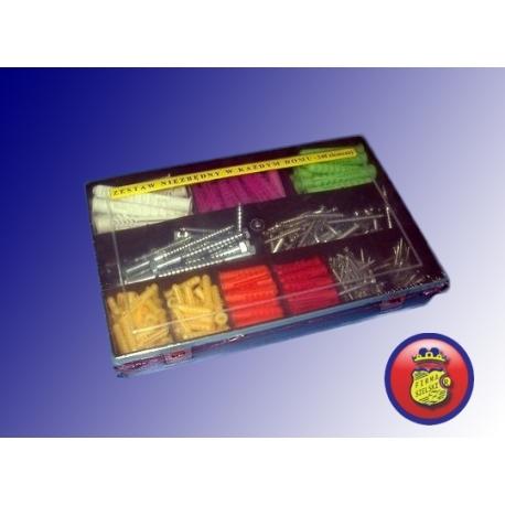 Zestaw kołków w organizerze MAXI Zestaw zawiera 348 elementy